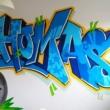 Mr Graffiti op de kamer van Thomas