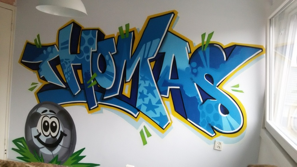 Graffiti Voor Slaapkamer : Mr graffiti slaapkamer thomas mr graffiti