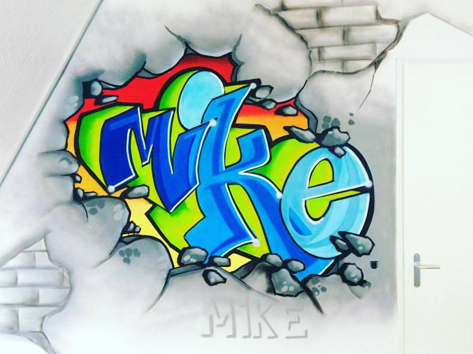 Graffiti Voor Slaapkamer : Mr graffiti slaapkamer mike mr graffiti