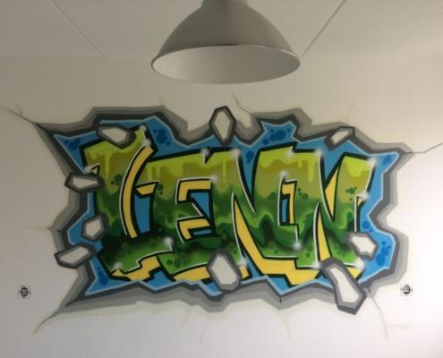 Graffiti Slaapkamer Muur : Graffiti thuis u op maat gemaakte schilderingen in huis